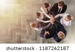 business people putting their... | Shutterstock . vector #1187262187
