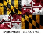 maryland rusted cracked flag ... | Shutterstock . vector #1187271751