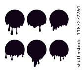 paint dripping. current drops....   Shutterstock .eps vector #1187272264