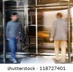 revolving door | Shutterstock . vector #118727401