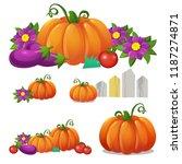 set of ripe vegetables isolated ... | Shutterstock .eps vector #1187274871