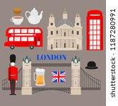 flat symbol of united kingdom ... | Shutterstock .eps vector #1187280991