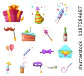 isolated object of party and... | Shutterstock .eps vector #1187284687