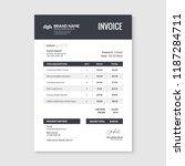 invoice minimal design template.... | Shutterstock .eps vector #1187284711