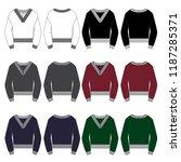 vector template for v neck... | Shutterstock .eps vector #1187285371