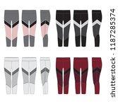 vector template for women's... | Shutterstock .eps vector #1187285374