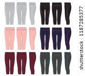 vector template for women's... | Shutterstock .eps vector #1187285377