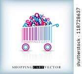 abstract vector shopping cart... | Shutterstock .eps vector #118728637