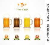 type of beer glass mug with... | Shutterstock .eps vector #1187288401