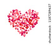 red flying hearts bright love... | Shutterstock .eps vector #1187289637