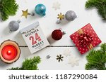 tear off calendar with 24th of... | Shutterstock . vector #1187290084