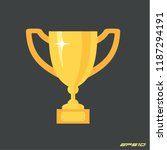 trophy cup. soccer or footbal... | Shutterstock .eps vector #1187294191