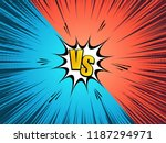comic vs and fight concept with ... | Shutterstock .eps vector #1187294971