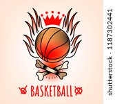 basketball emblem in the style...   Shutterstock .eps vector #1187302441