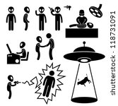 Ufo Alien Invaders Stick Figur...