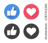 thumbs up and heart icon in a... | Shutterstock .eps vector #1187312281