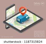 city map navigation route ... | Shutterstock .eps vector #1187315824