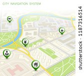city map navigation route ... | Shutterstock .eps vector #1187316514