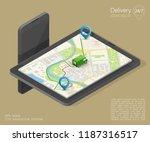 city map navigation route ... | Shutterstock .eps vector #1187316517