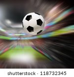 soccer ball in stadium | Shutterstock . vector #118732345