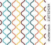 seamless pattern with wavy... | Shutterstock .eps vector #1187324284