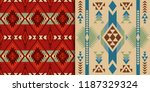 ethnic seamless patterns.... | Shutterstock .eps vector #1187329324