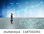 business concept of uncertainty ...   Shutterstock . vector #1187332351
