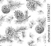 realistic botanical ink sketch... | Shutterstock .eps vector #1187336227
