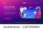 healthcare smart card and... | Shutterstock .eps vector #1187340004