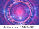 abstract technology background. ... | Shutterstock .eps vector #1187342851