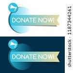 donate now flat design. vector... | Shutterstock .eps vector #1187344261