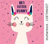 text bunny baby girl...   Shutterstock .eps vector #1187346427