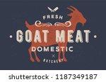 Goat Meat. Vintage Logo  Retro...