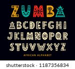 vector hand drawn african... | Shutterstock .eps vector #1187356834