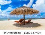 maldives   june 24  2018 ...   Shutterstock . vector #1187357404