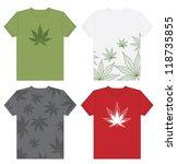 t shirt designs with marijuana... | Shutterstock .eps vector #118735855