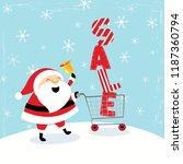 christmas sale illustration... | Shutterstock .eps vector #1187360794