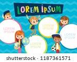 template. pupils. school.... | Shutterstock .eps vector #1187361571