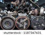 bunch of old car parts ... | Shutterstock . vector #1187367631