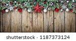christmas ornament with fir... | Shutterstock . vector #1187373124