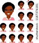 set of different african... | Shutterstock .eps vector #1187376181