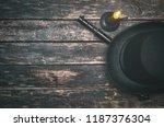 musket gun  bowler hat and...   Shutterstock . vector #1187376304