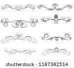 set of decorative florish...   Shutterstock .eps vector #1187382514