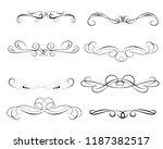 set of decorative florish... | Shutterstock .eps vector #1187382517
