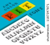 3d floor pit font on write... | Shutterstock .eps vector #1187397871