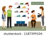 men s shoes shop with... | Shutterstock .eps vector #1187399104