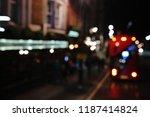 defocused urban abstract... | Shutterstock . vector #1187414824