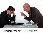 boss shouting at employee | Shutterstock . vector #118741597