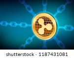 ripple. crypto currency. block... | Shutterstock .eps vector #1187431081