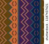 ikat stripes pattern with... | Shutterstock .eps vector #1187437621